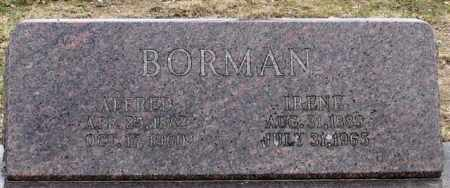 BORMAN, ALFRED - Garland County, Arkansas | ALFRED BORMAN - Arkansas Gravestone Photos