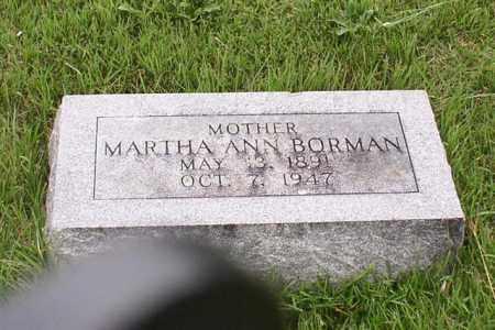 BORMAN, MARTHA ANN - Garland County, Arkansas   MARTHA ANN BORMAN - Arkansas Gravestone Photos
