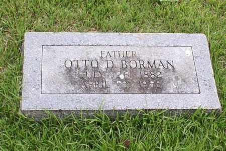 BORMAN, OTTO D. - Garland County, Arkansas | OTTO D. BORMAN - Arkansas Gravestone Photos
