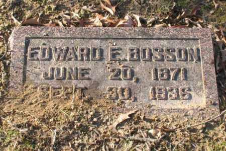 BOSSON, EDWARD E. - Garland County, Arkansas | EDWARD E. BOSSON - Arkansas Gravestone Photos