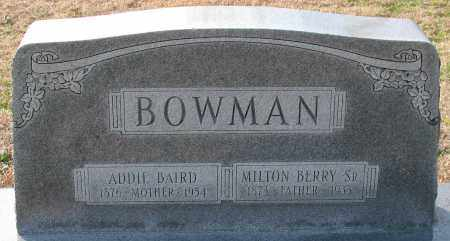BOWMAN, SR., MILTON BERRY - Garland County, Arkansas | MILTON BERRY BOWMAN, SR. - Arkansas Gravestone Photos