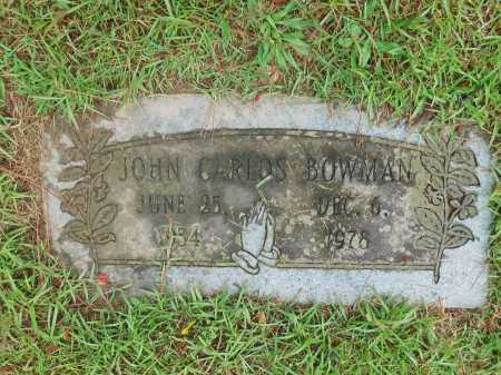 BOWMAN, JOHN CARLOS - Garland County, Arkansas | JOHN CARLOS BOWMAN - Arkansas Gravestone Photos
