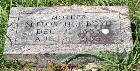 BOYD, M. FLORENCE - Garland County, Arkansas | M. FLORENCE BOYD - Arkansas Gravestone Photos