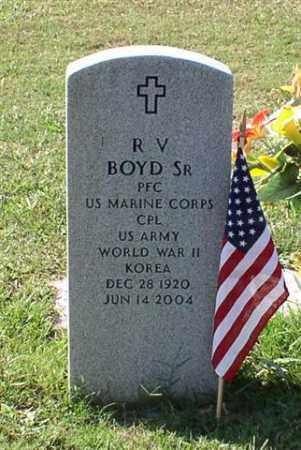 BOYD, SR. (VETERAN 2 WARS), R. V. - Garland County, Arkansas | R. V. BOYD, SR. (VETERAN 2 WARS) - Arkansas Gravestone Photos