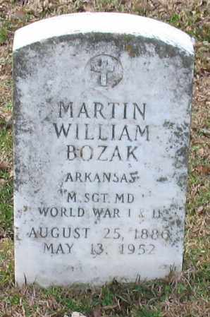 BOZAK (VETERAN WWI WWII), MARTIN WILLIAM - Garland County, Arkansas | MARTIN WILLIAM BOZAK (VETERAN WWI WWII) - Arkansas Gravestone Photos
