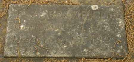 BRADFIELD, F. A. - Garland County, Arkansas | F. A. BRADFIELD - Arkansas Gravestone Photos