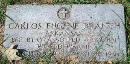 BRANCH (VETERAN WWII), CARLOS EUGENE - Garland County, Arkansas | CARLOS EUGENE BRANCH (VETERAN WWII) - Arkansas Gravestone Photos