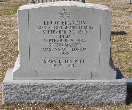BRANDON, MARY I. - Garland County, Arkansas | MARY I. BRANDON - Arkansas Gravestone Photos