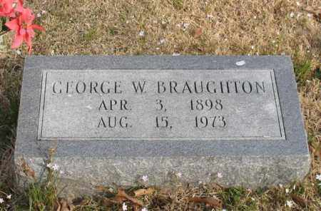 BRAUGHTON, GEORGE W. - Garland County, Arkansas | GEORGE W. BRAUGHTON - Arkansas Gravestone Photos