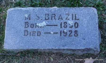 BRAZIL, M. S. - Garland County, Arkansas | M. S. BRAZIL - Arkansas Gravestone Photos