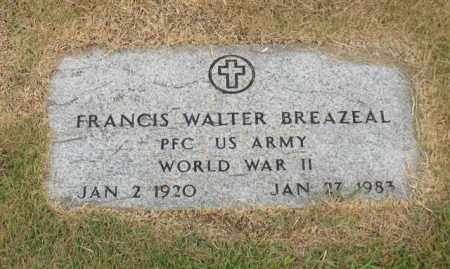 BREAZEAL (VETERAN WWII), FRANCIS WALTER - Garland County, Arkansas | FRANCIS WALTER BREAZEAL (VETERAN WWII) - Arkansas Gravestone Photos