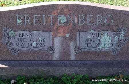 BREITENBERG, EMILY K. - Garland County, Arkansas | EMILY K. BREITENBERG - Arkansas Gravestone Photos