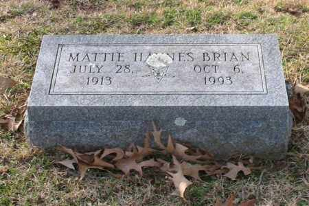 HAYNES BRIAN, MATTIE - Garland County, Arkansas | MATTIE HAYNES BRIAN - Arkansas Gravestone Photos