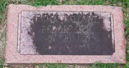 BALLOWE BROOKSHIER, EMMA - Garland County, Arkansas | EMMA BALLOWE BROOKSHIER - Arkansas Gravestone Photos