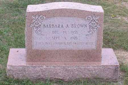 BROWN, BARBARA A. - Garland County, Arkansas | BARBARA A. BROWN - Arkansas Gravestone Photos
