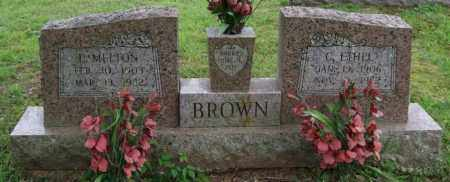 BROWN, E. MELTON - Garland County, Arkansas | E. MELTON BROWN - Arkansas Gravestone Photos