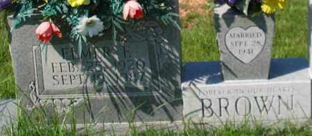 BROWN, ELMER F. - Garland County, Arkansas | ELMER F. BROWN - Arkansas Gravestone Photos