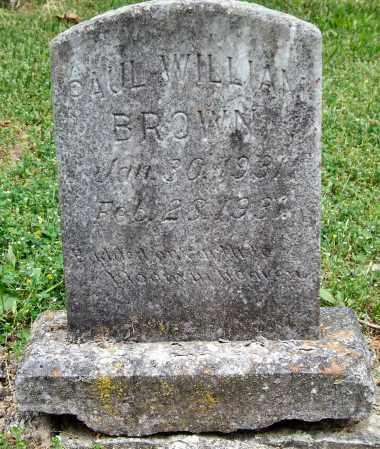 BROWN, PAUL WILLIAM - Garland County, Arkansas | PAUL WILLIAM BROWN - Arkansas Gravestone Photos