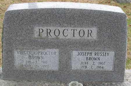 BROWN, JOSEPH RUSSEY - Garland County, Arkansas | JOSEPH RUSSEY BROWN - Arkansas Gravestone Photos