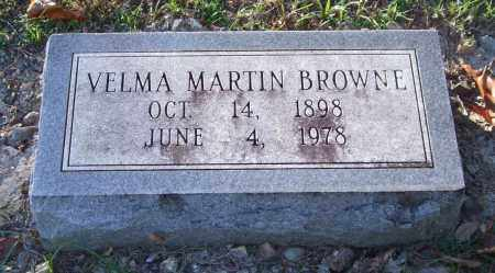 MARTIN BROWNE, VELMA - Garland County, Arkansas | VELMA MARTIN BROWNE - Arkansas Gravestone Photos