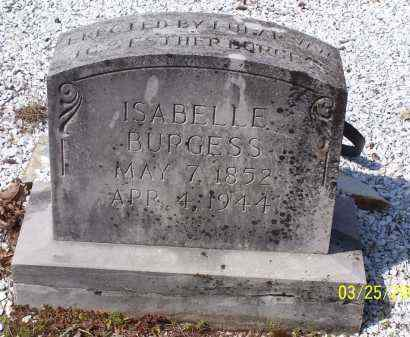 BURGESS, ISABELLE - Garland County, Arkansas | ISABELLE BURGESS - Arkansas Gravestone Photos