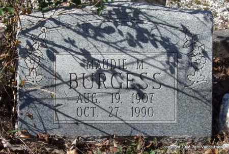 BURGESS, MAUDIE M. - Garland County, Arkansas | MAUDIE M. BURGESS - Arkansas Gravestone Photos