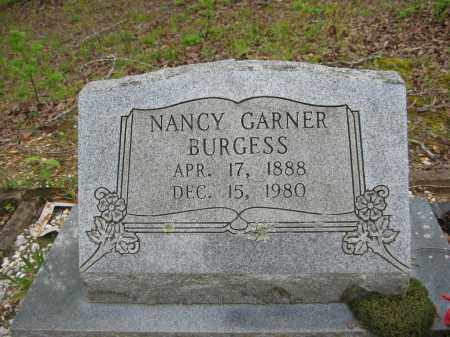 GARNER BURGESS, NANCY - Garland County, Arkansas | NANCY GARNER BURGESS - Arkansas Gravestone Photos