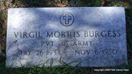 BURGESS (VETERAN), VIRGIL MORRIS - Garland County, Arkansas | VIRGIL MORRIS BURGESS (VETERAN) - Arkansas Gravestone Photos