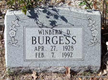 BURGESS, WINBERN D. - Garland County, Arkansas | WINBERN D. BURGESS - Arkansas Gravestone Photos