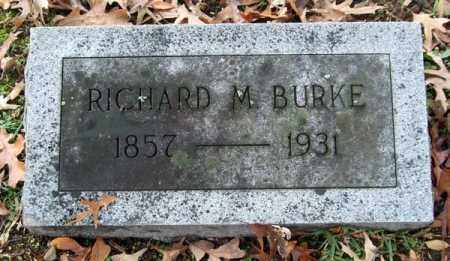BURKE, RICHARD M. - Garland County, Arkansas | RICHARD M. BURKE - Arkansas Gravestone Photos
