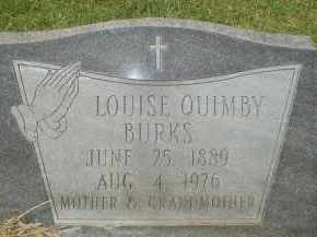 QUIMBY BURKS, LOUISE - Garland County, Arkansas | LOUISE QUIMBY BURKS - Arkansas Gravestone Photos