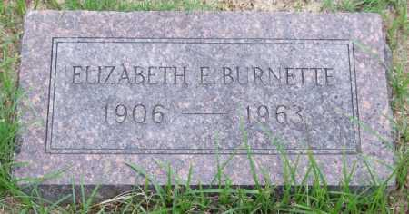 BURNETTE, ELIZABETH E. - Garland County, Arkansas | ELIZABETH E. BURNETTE - Arkansas Gravestone Photos