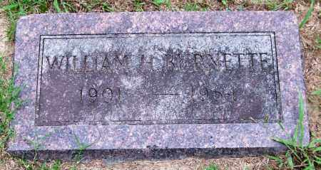 BURNETTE, WILLIAM H. - Garland County, Arkansas | WILLIAM H. BURNETTE - Arkansas Gravestone Photos