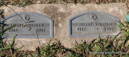BURNHAM, INFANT - Garland County, Arkansas | INFANT BURNHAM - Arkansas Gravestone Photos