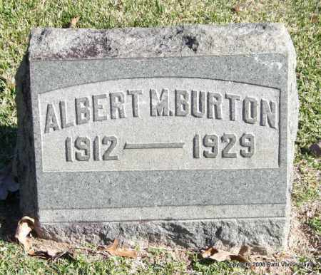 BURTON, ALBERT M. - Garland County, Arkansas | ALBERT M. BURTON - Arkansas Gravestone Photos