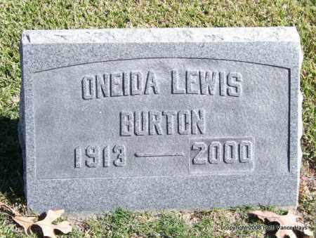 BURTON, ONEIDA - Garland County, Arkansas | ONEIDA BURTON - Arkansas Gravestone Photos
