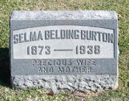 BURTON, SELMA - Garland County, Arkansas | SELMA BURTON - Arkansas Gravestone Photos