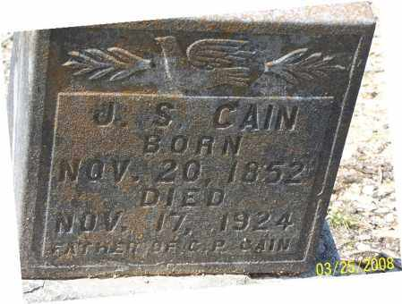CAIN, J. S. - Garland County, Arkansas | J. S. CAIN - Arkansas Gravestone Photos