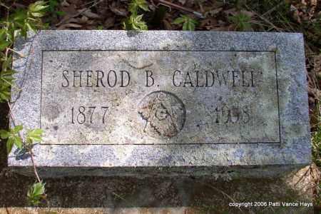 CALDWELL, SHEROD B. - Garland County, Arkansas | SHEROD B. CALDWELL - Arkansas Gravestone Photos