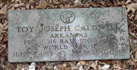 CALDWELL (VETERAN WWII), TOY JOSEPH - Garland County, Arkansas | TOY JOSEPH CALDWELL (VETERAN WWII) - Arkansas Gravestone Photos
