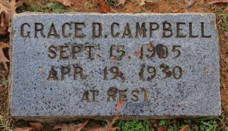 CAMPBELL, GRACE D. - Garland County, Arkansas | GRACE D. CAMPBELL - Arkansas Gravestone Photos
