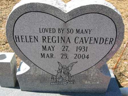 CAVENDER, HELEN REGINA - Garland County, Arkansas | HELEN REGINA CAVENDER - Arkansas Gravestone Photos
