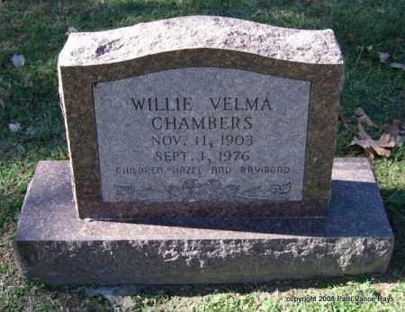 CHAMBERS, WILLIE VELMA - Garland County, Arkansas | WILLIE VELMA CHAMBERS - Arkansas Gravestone Photos