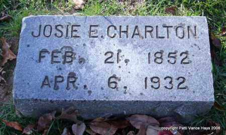 CHARLTON, JOSIE E. - Garland County, Arkansas | JOSIE E. CHARLTON - Arkansas Gravestone Photos