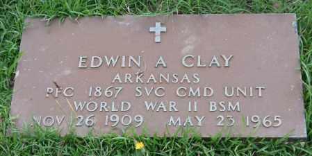 CLAY (VETERAN WWII), EDWIN A. - Garland County, Arkansas | EDWIN A. CLAY (VETERAN WWII) - Arkansas Gravestone Photos