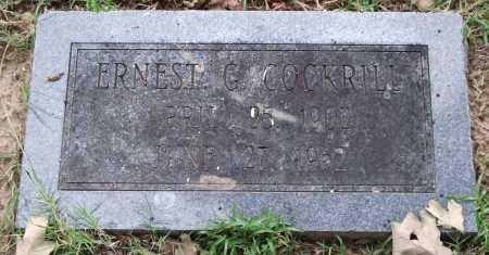 COCKRILL, ERNEST G. - Garland County, Arkansas | ERNEST G. COCKRILL - Arkansas Gravestone Photos