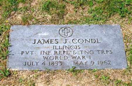 CONDL (VETERAN WWI), JAMES J - Garland County, Arkansas | JAMES J CONDL (VETERAN WWI) - Arkansas Gravestone Photos