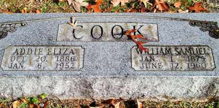 COOK, ADDIE ELIZA - Garland County, Arkansas | ADDIE ELIZA COOK - Arkansas Gravestone Photos