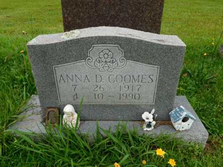 COOMES, ANNA D. - Garland County, Arkansas | ANNA D. COOMES - Arkansas Gravestone Photos