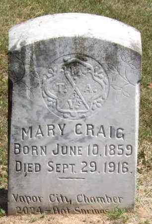 CRAIG, MARY - Garland County, Arkansas | MARY CRAIG - Arkansas Gravestone Photos